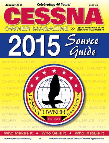 Cessna Owner Magazine January 2015 Source Guide