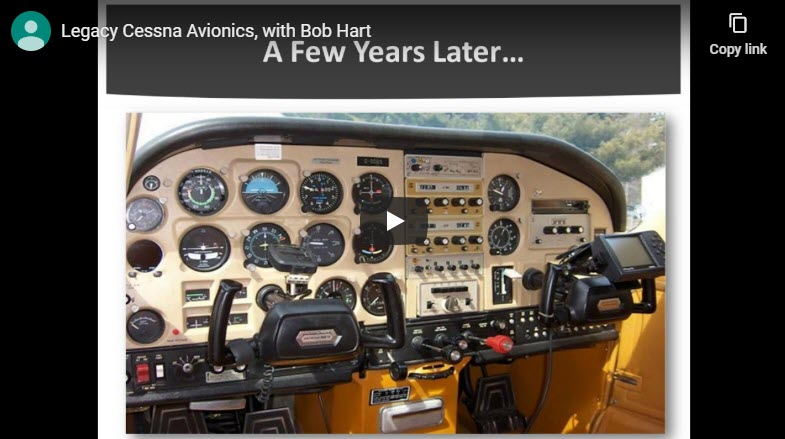 Cessna Legacy Avionics Webinar by Bob Hart