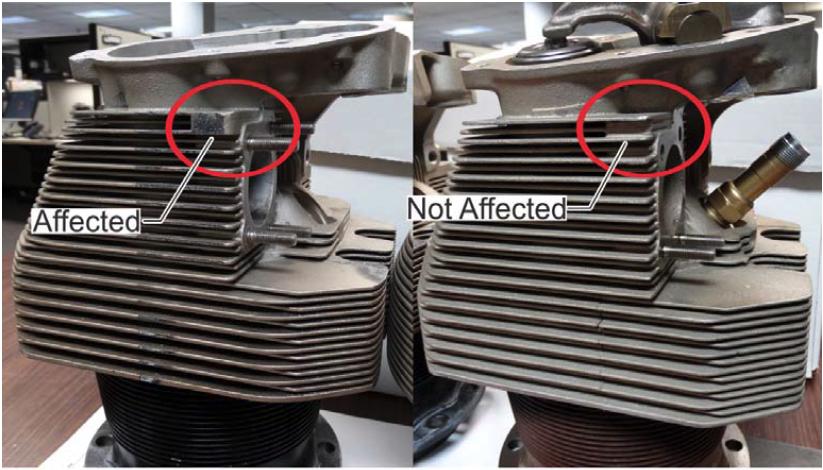 Continental 520, 550 Engine Cylinder Fractures Prompt Service Letter